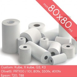 80mm x 80mt - 300 Rotoli...