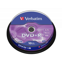 10 DVD+R Verbatim Scatola...